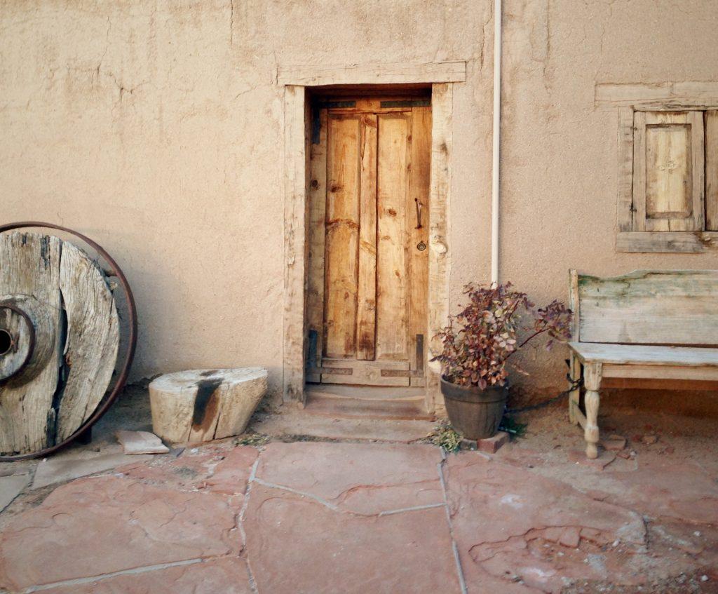 Rustic desert pueblo house
