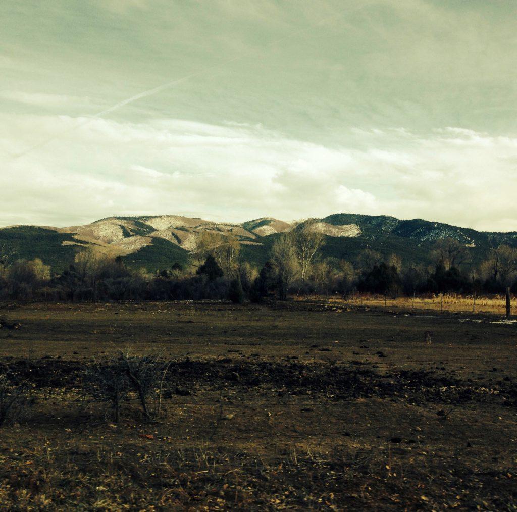 Desert mountain scenery around Taos. New Mexico.