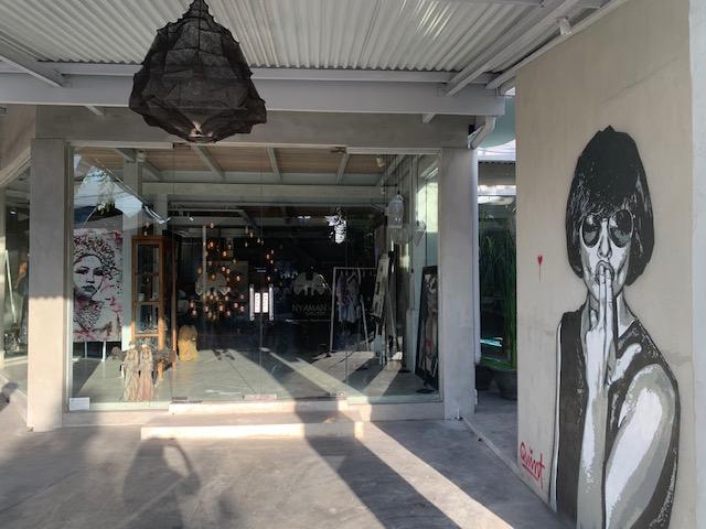 Indonesian Graffiti artist Quint in Nyaman Gallery, Bali