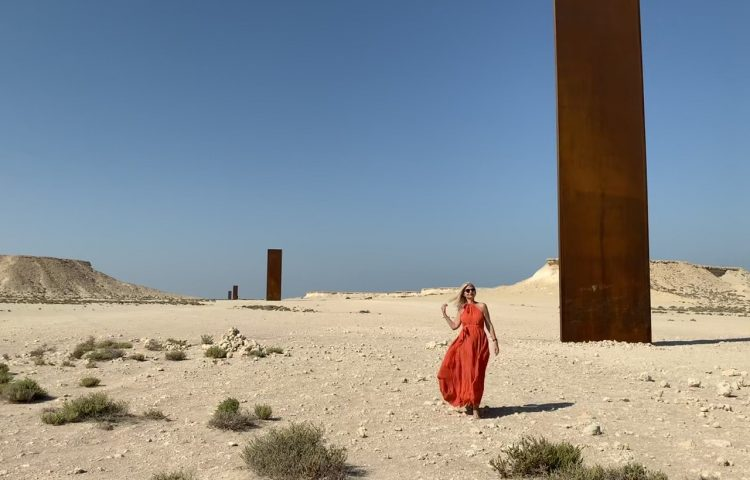 Richard Serra Qatar East-West/West-East with Tijana Kalita Dress