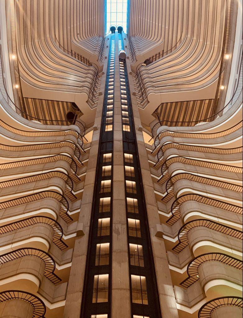 John Portman Marriott Marquis elevator