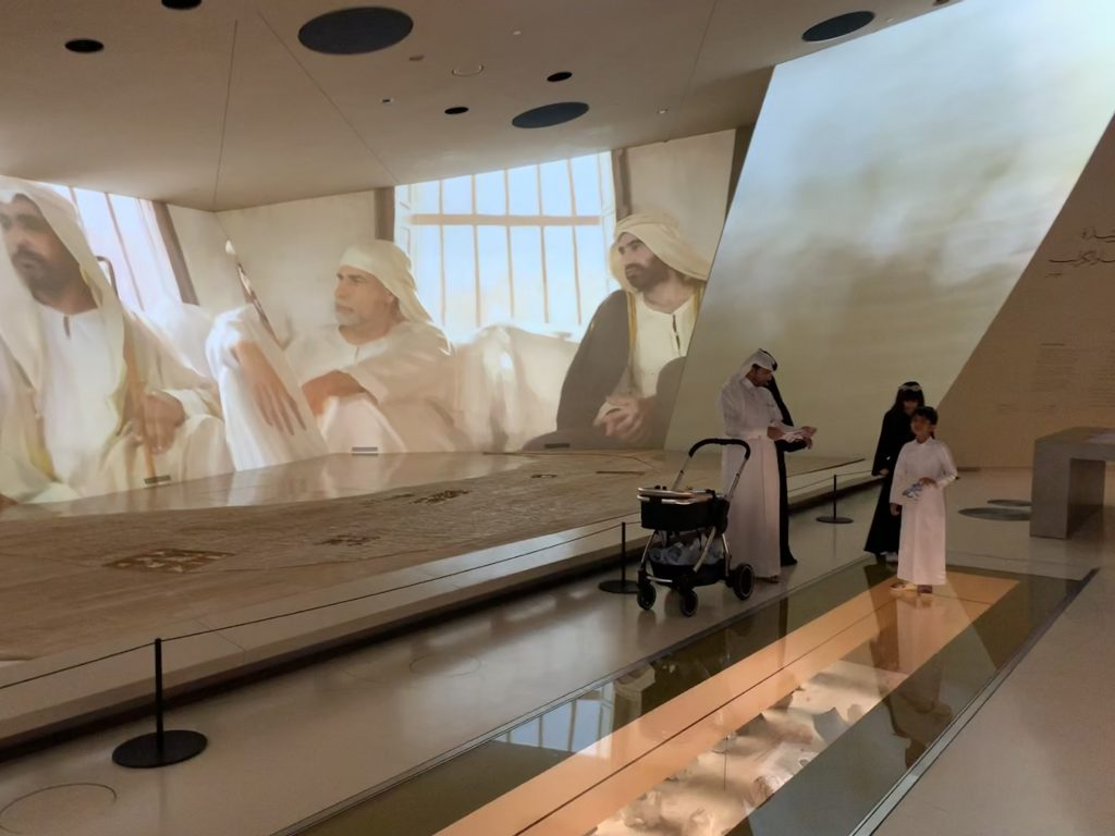 Inside the National Museum of Qatar