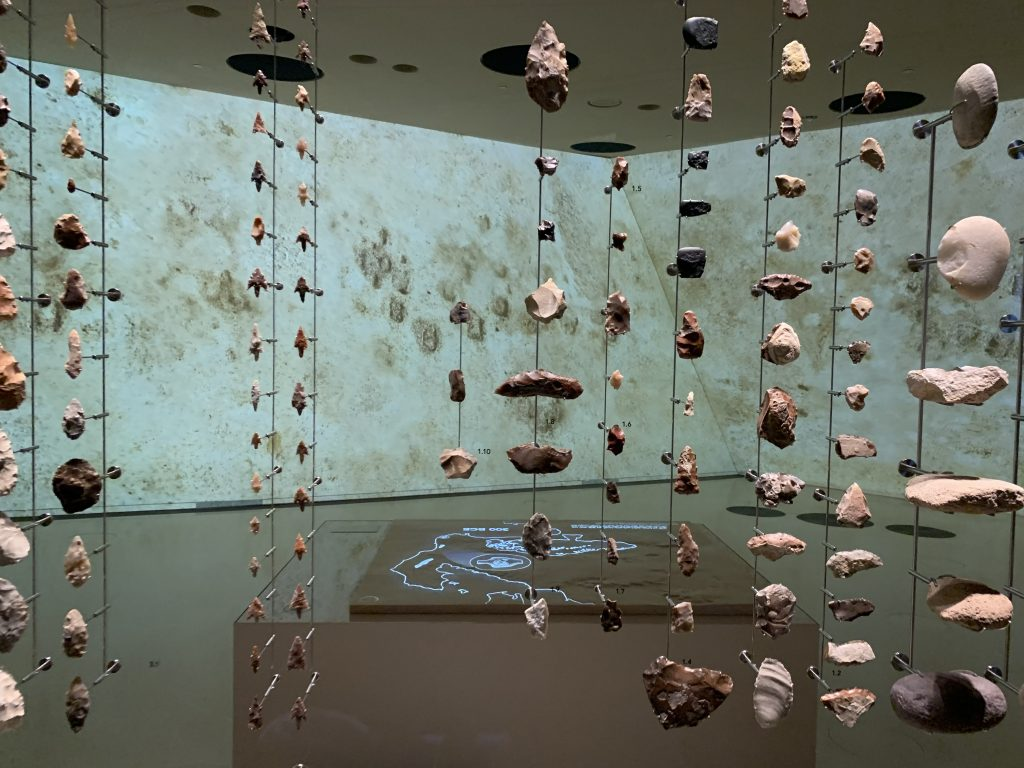 Exhibitions at the National Museum of Qatar, inside the Desert Rose by Jean Nouvel