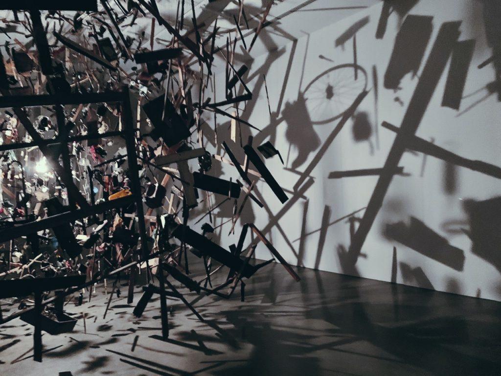 Cornelia Parker. Cold Dark Matter Installation in Sydney.