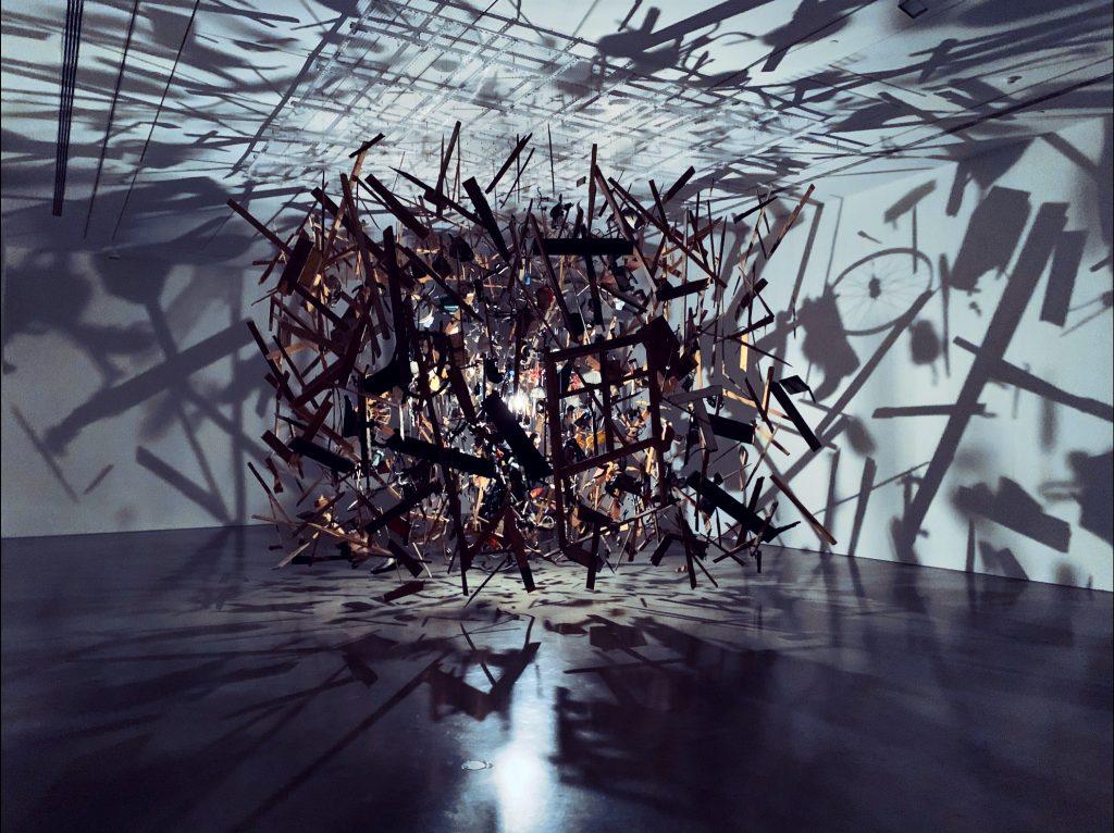 Cornelia Parker. Cold Dark Matter Installation.