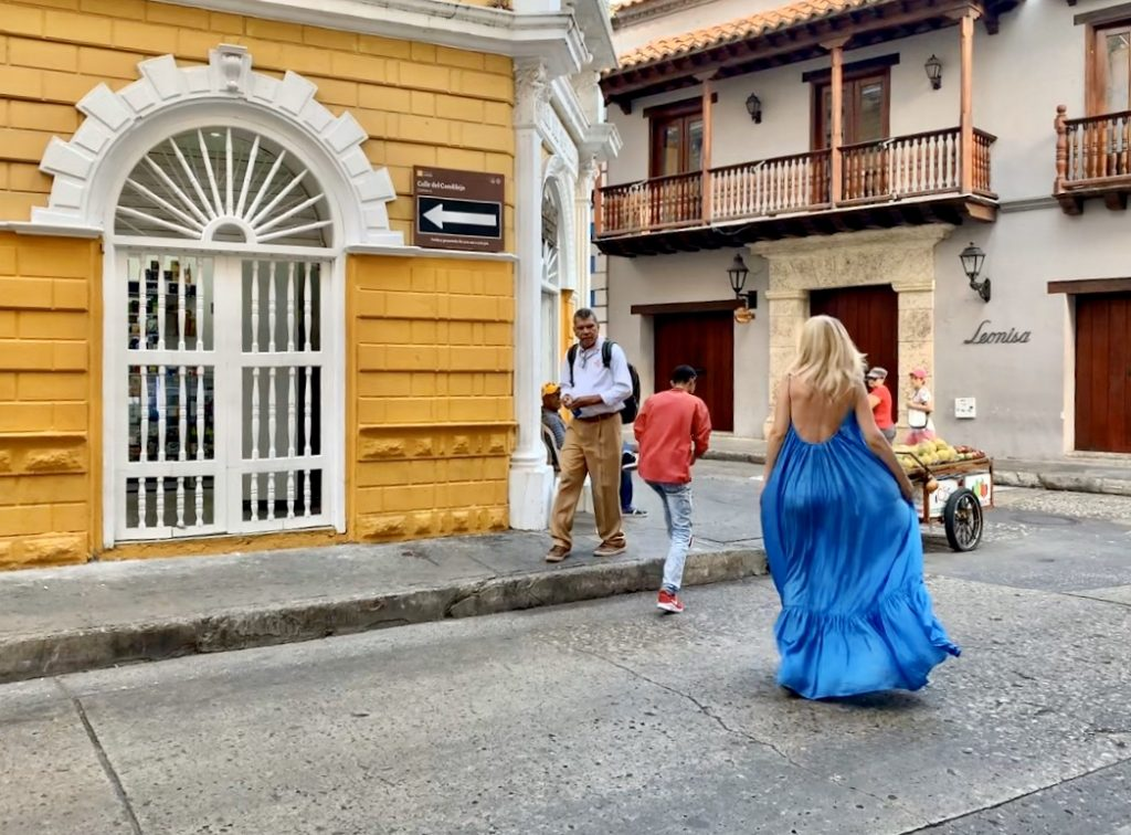 The colorful streets of Cartagena  Kalita dress