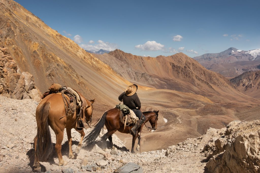 A gaucho in the Andes Mountains