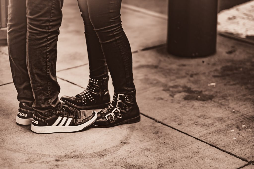 A couple and their shoes, Photo by Petar Pavlov.