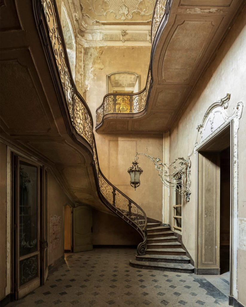 Mitteleuropa II by Nicola Bertellotti. A romantic abandoned staircase.