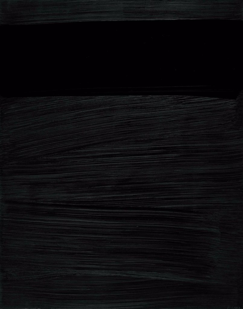 The brushstroke detail of Soulages