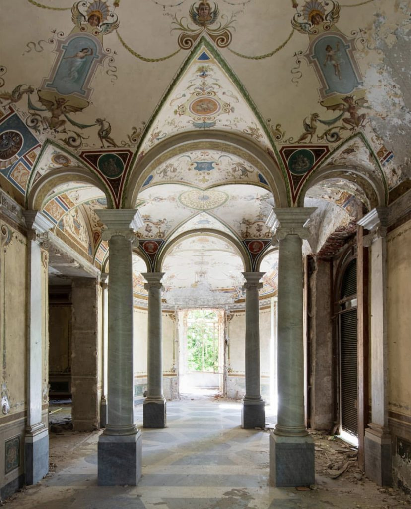 Grandeur by Nicola Bertellotti. An empty hallway with intricate high ceilings