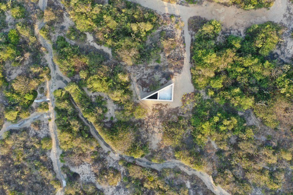 Tadao Ando Casa Wabi Aerial shot