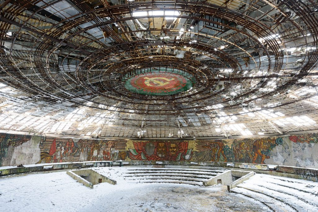 Abandoned monument of Buzludzha in Bulgaria by Nicola