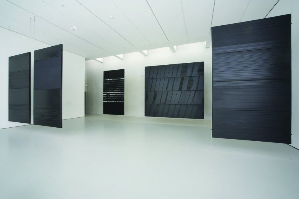 Pierre Soulages work displayed in Musee Fabre, Monpelier