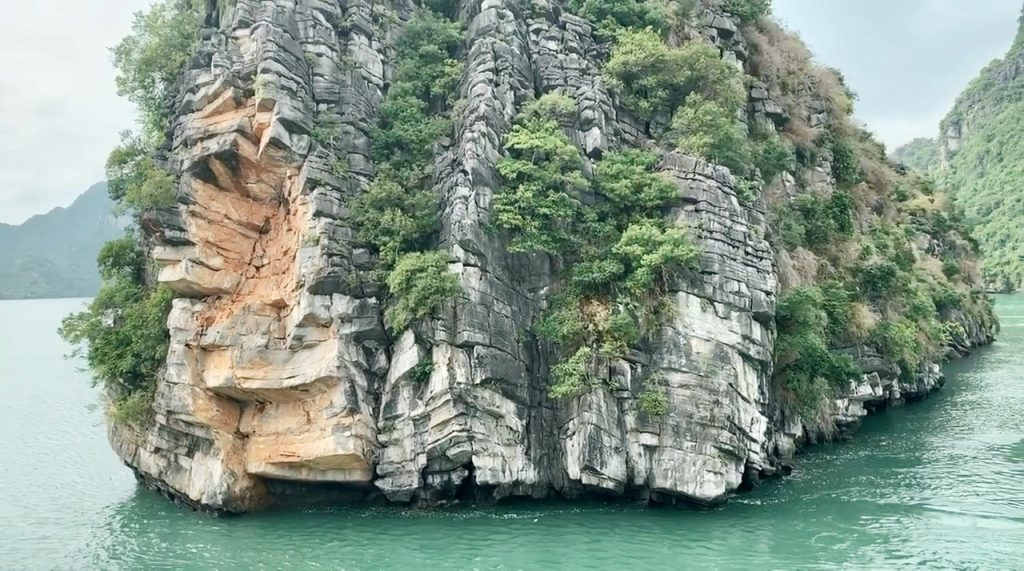Halong Bay Rock formations.