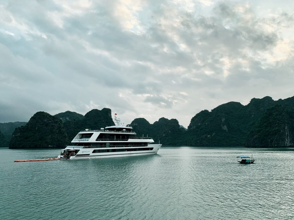Halong Bay in the evening