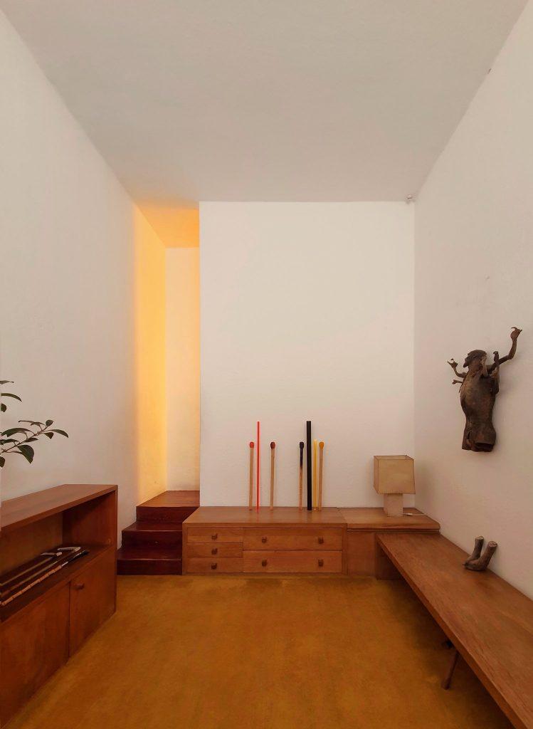 Art throughout Barragán's casa.
