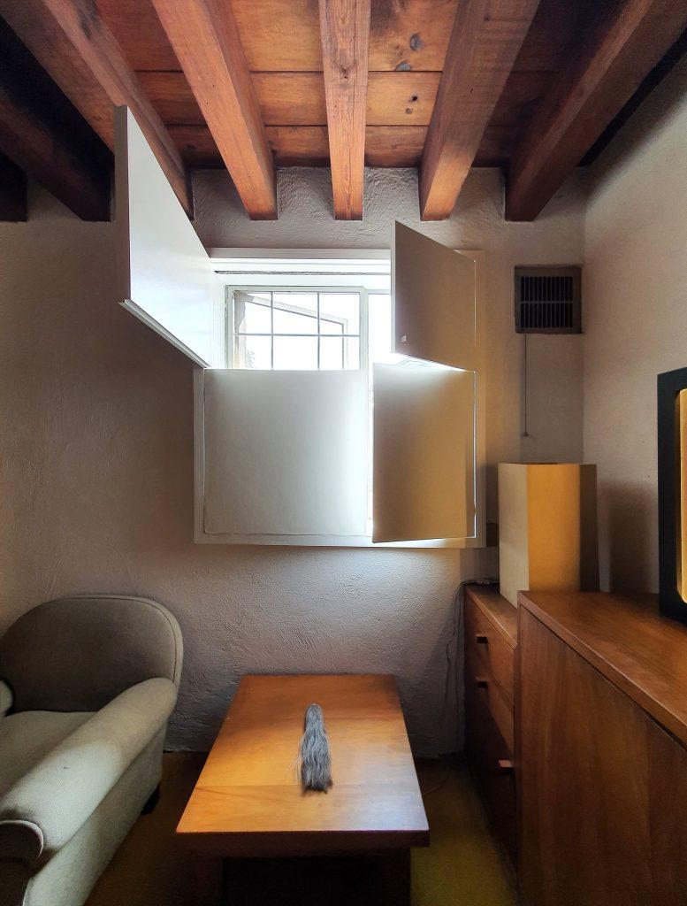 Geometric window shades in Casa Luis Barragán
