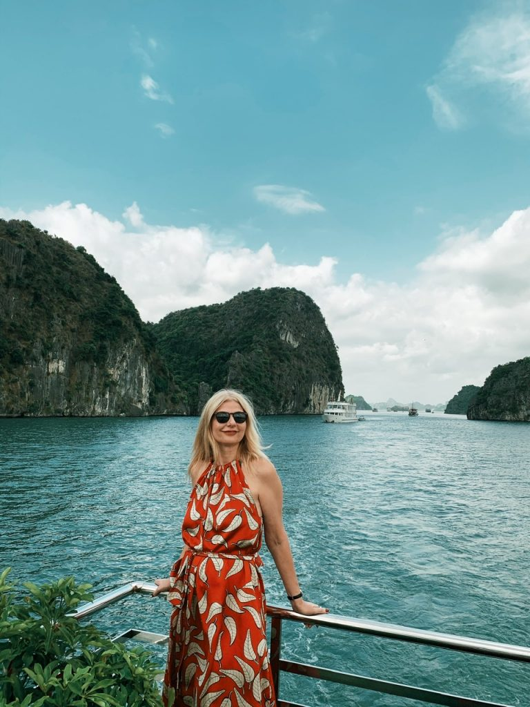 Halong Bay view with Tijana