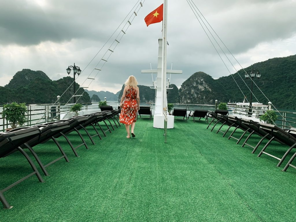 Deck views of Halong Bay
