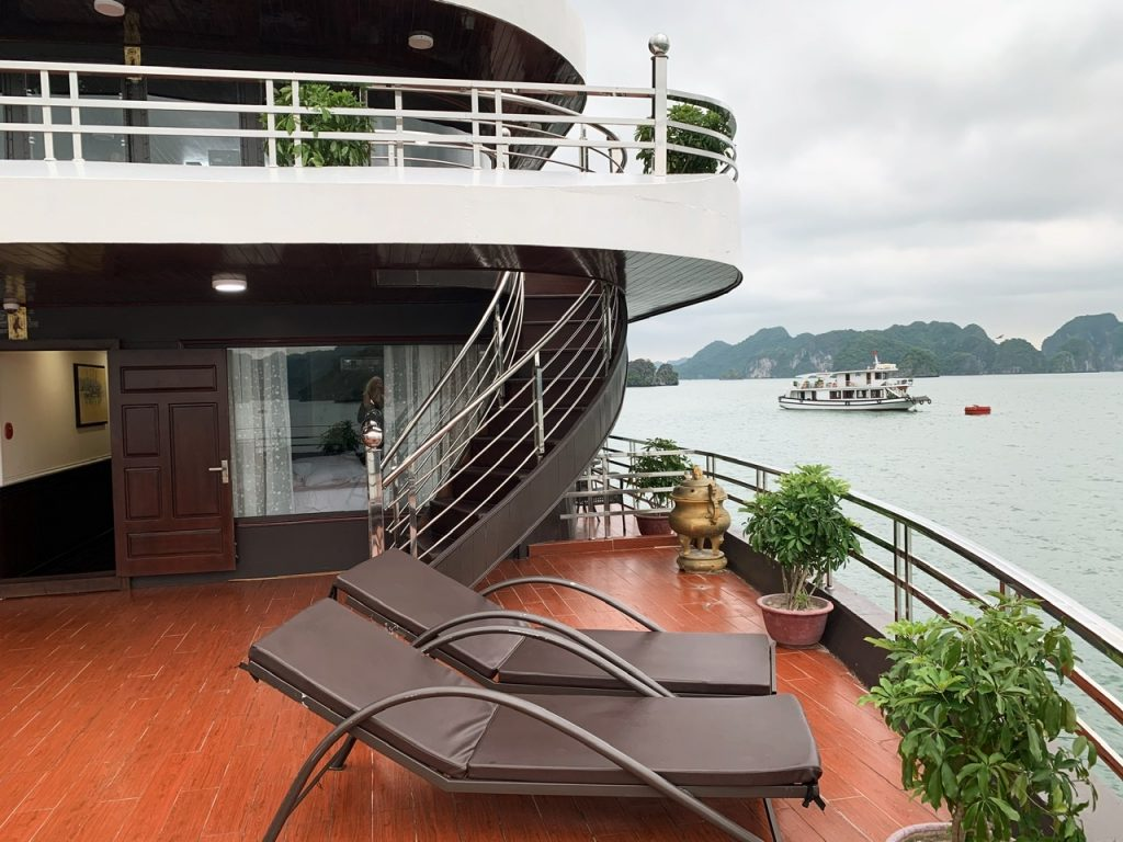 Cruise deck in Vietnam
