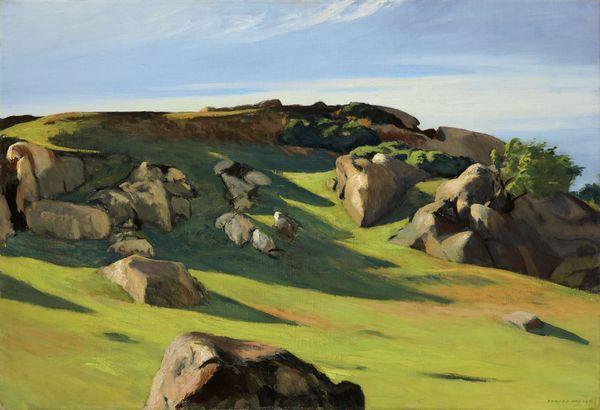 Cape Ann Granite by Edward Hopper courtesy of Fondation Beyler