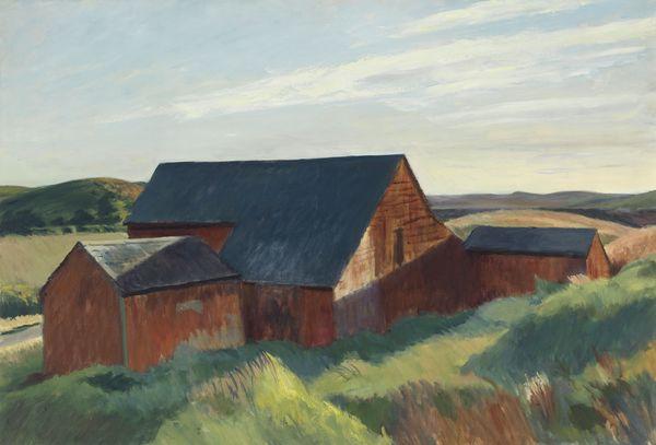 Cobb's Barns, South Truro by Edward Hopper