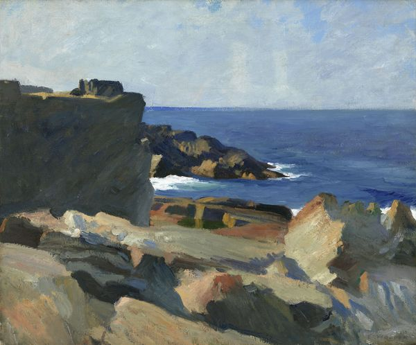 Square rock, ogunquit, by Edward Hopper