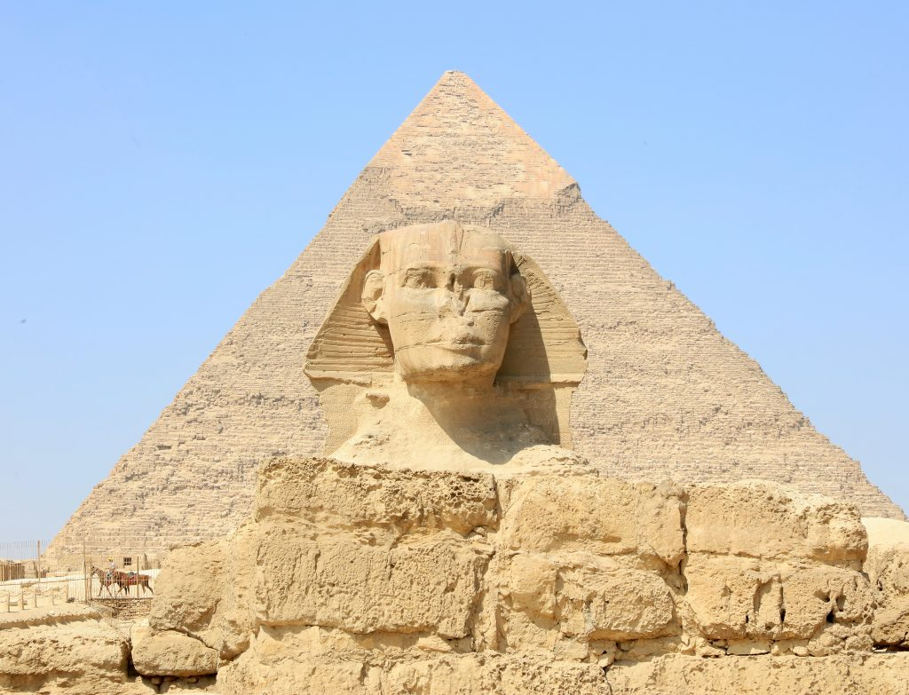 The Sphinx and the Great Pyramid of Khufu