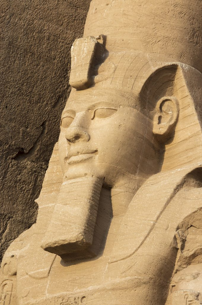 Close up if the Statue if Ramsses II at Abu Simbel.