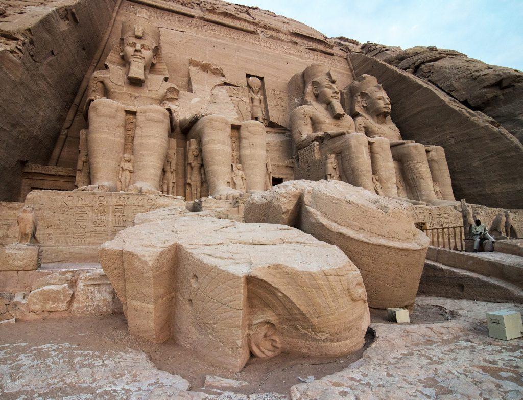 Temple of Ramsses II at Abu Simbel.