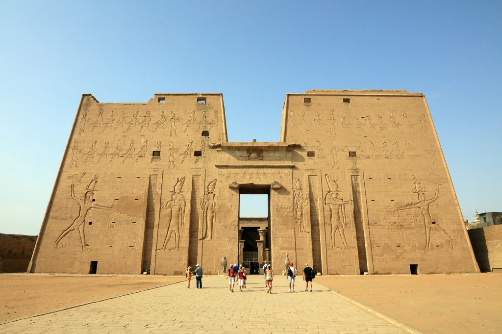 Front of the Temple of Edfu