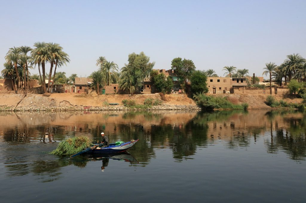 A boat cruising on the nile.