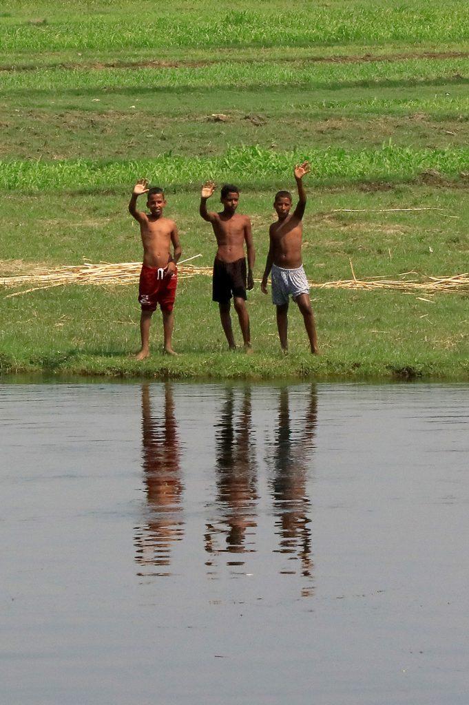 Egyptian children on the Nile.