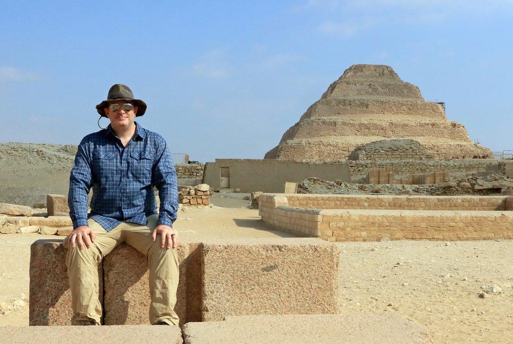 Colin S. Johnson in Egypt.