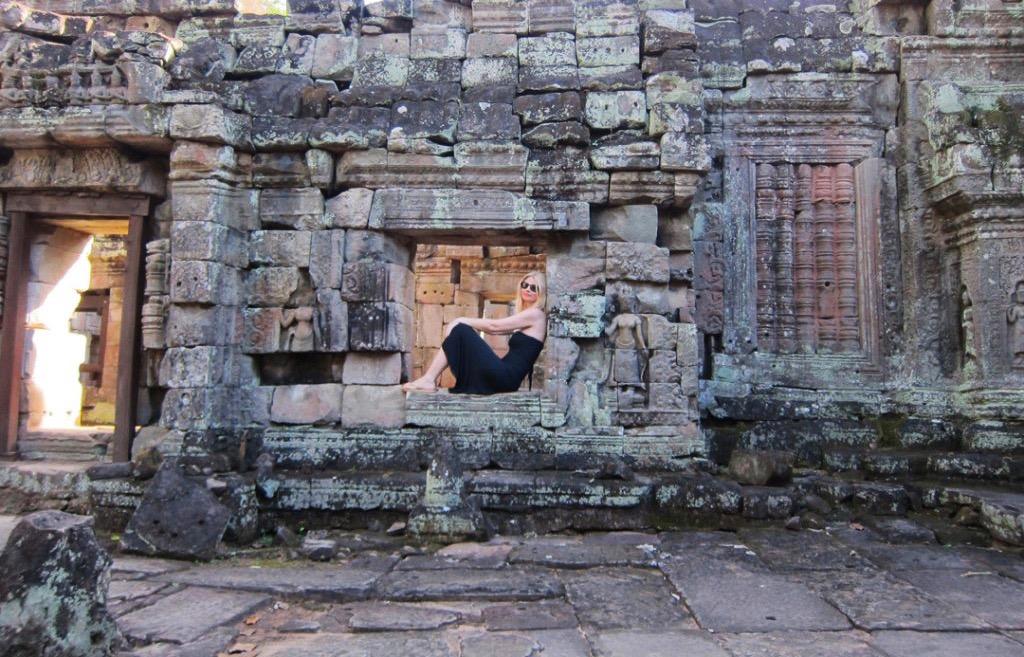Tijana at the Angkor Wat Temple