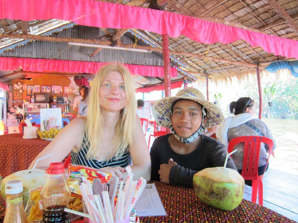 Restaurant on the Tonle Sap lake