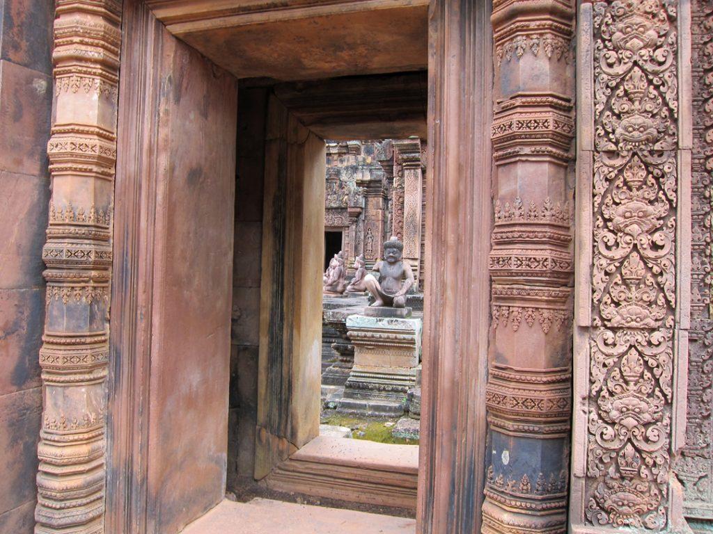 Banteay Srei sculptures in Cambodia