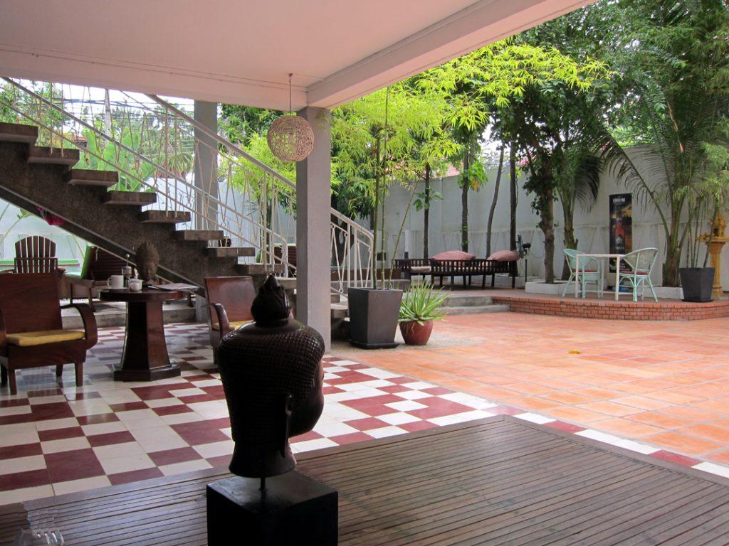 Hotel yard Phnom Penh