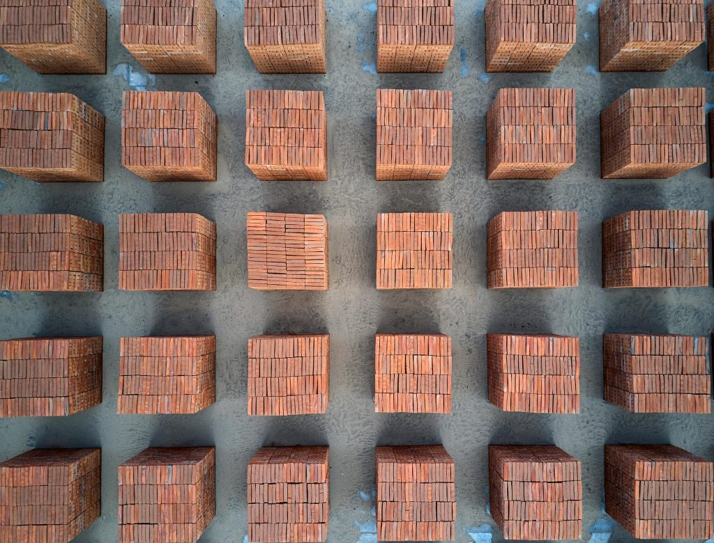 Bosco Sodi's Installation of clay cubes