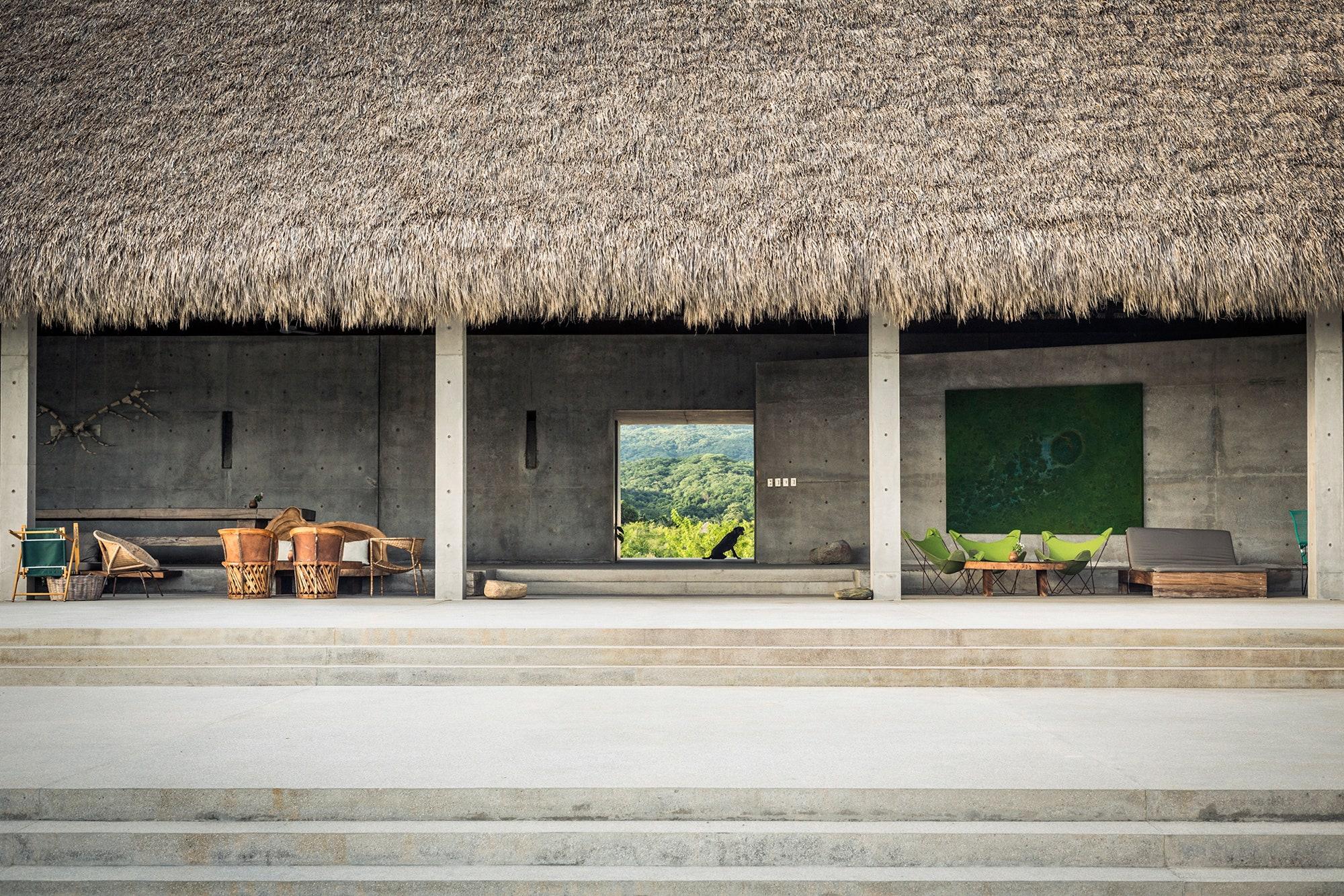 The exterior of Casa Wabi