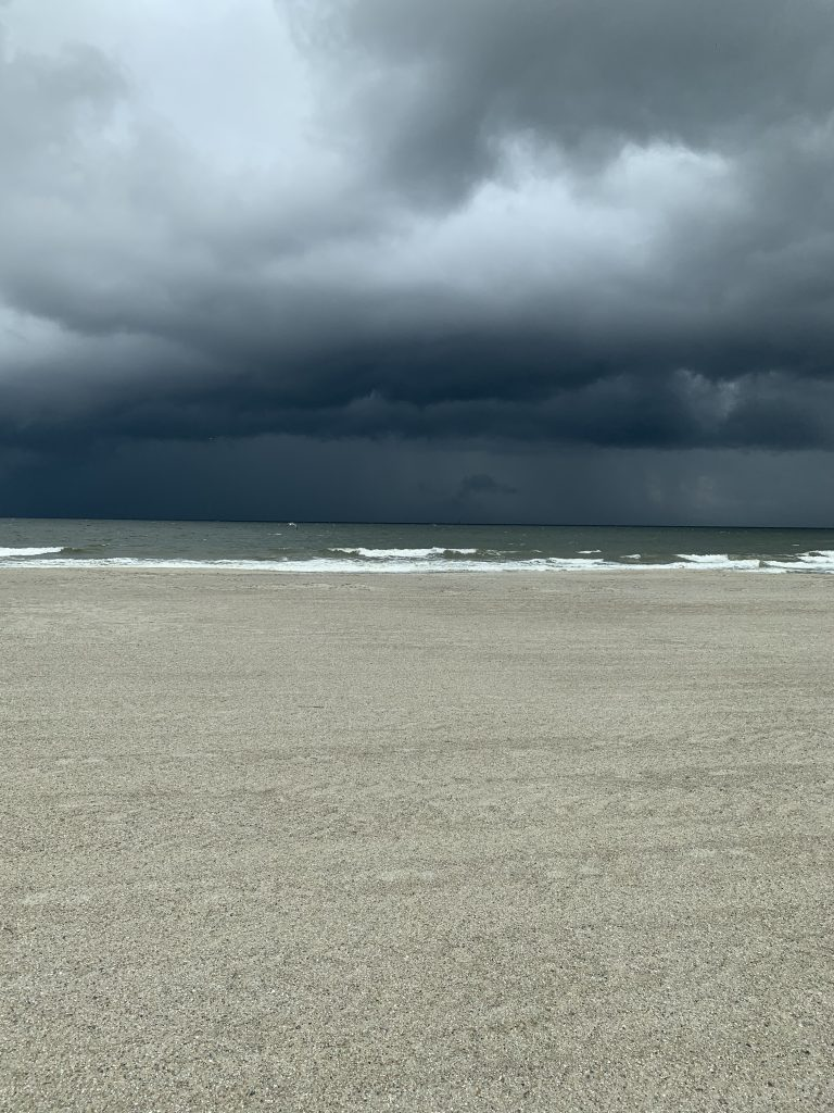 Tybee Island Beach before the rain