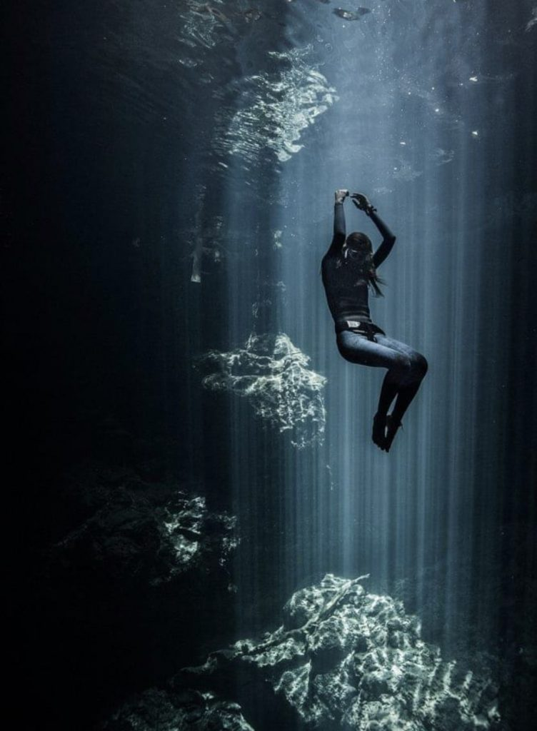 Freediving beautiful image. Pepe Arcos.