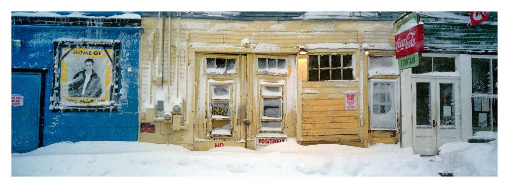 A snowy storefront in America by Horst Hamann