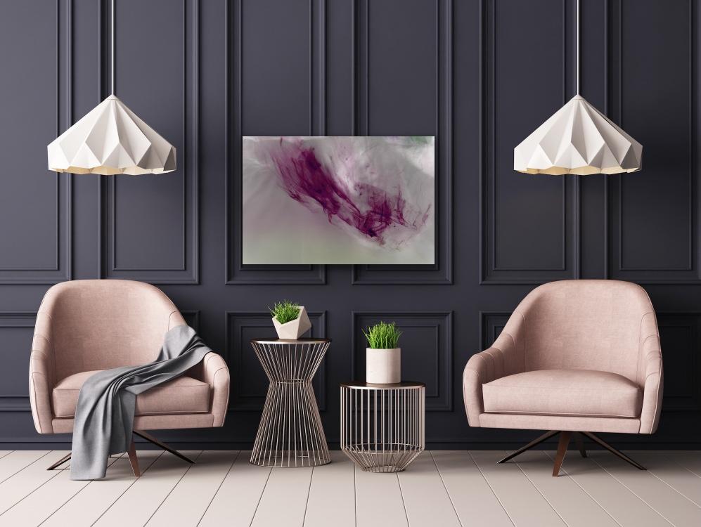 Liquid lines living room artwork