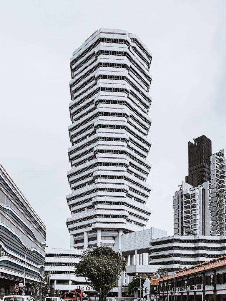 The concourse architecture in Singapore