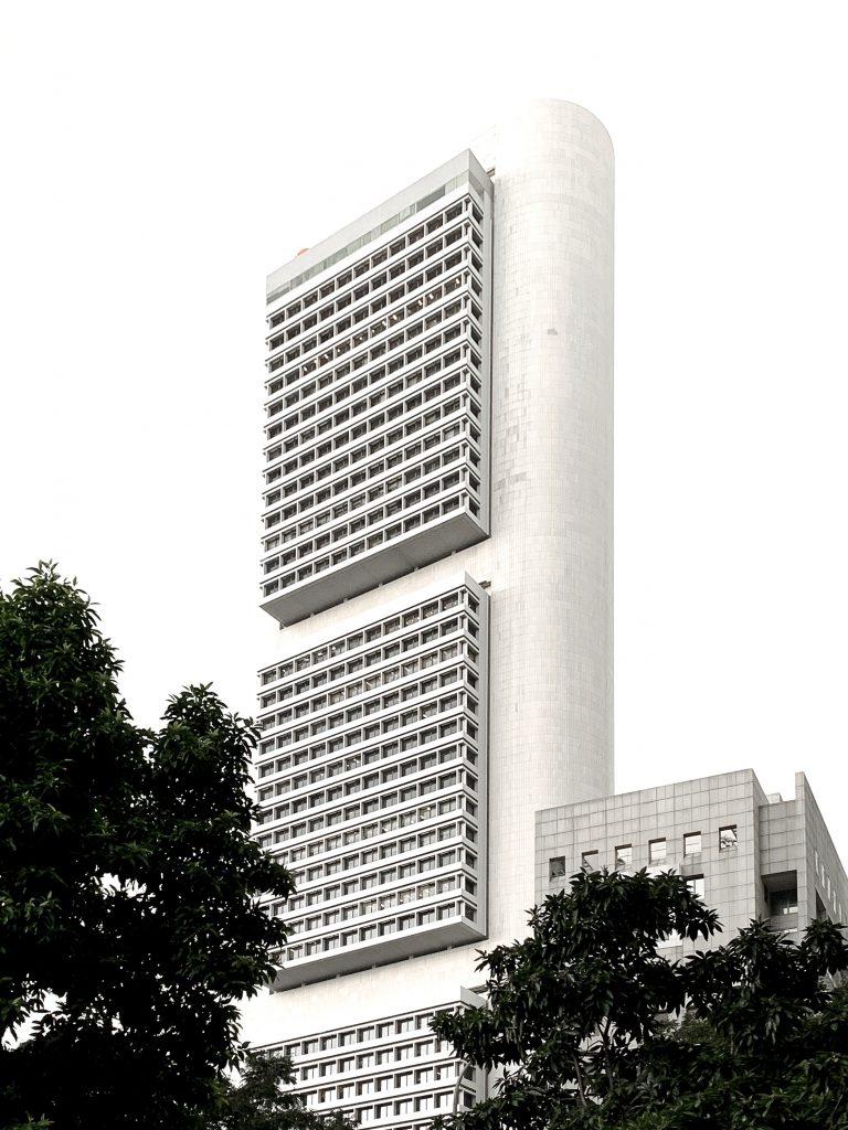 OCBC Centre architecture by I.M Pei