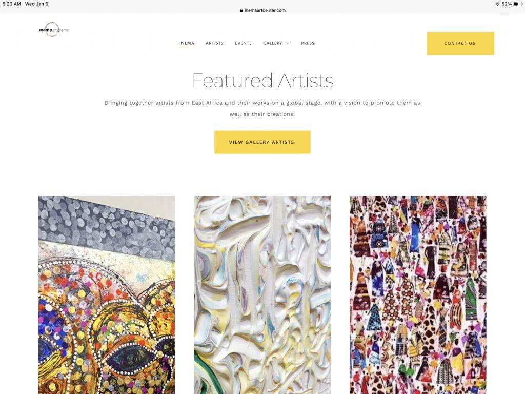 Inema Art Center Website