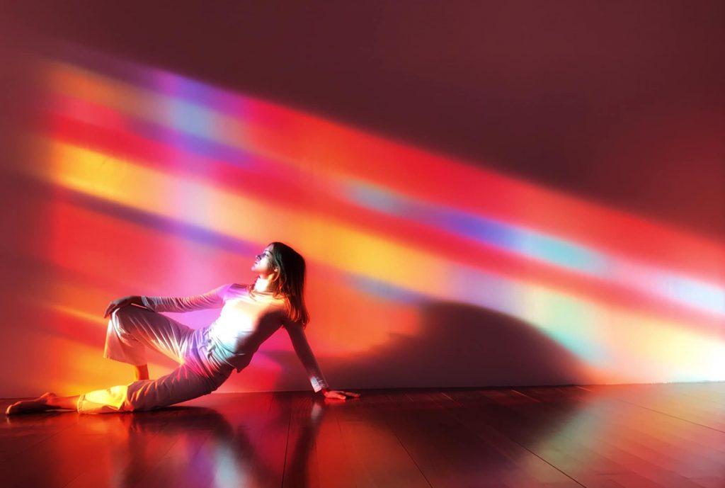 Deanna Sirlin STRATA Exhibition with dance artist
