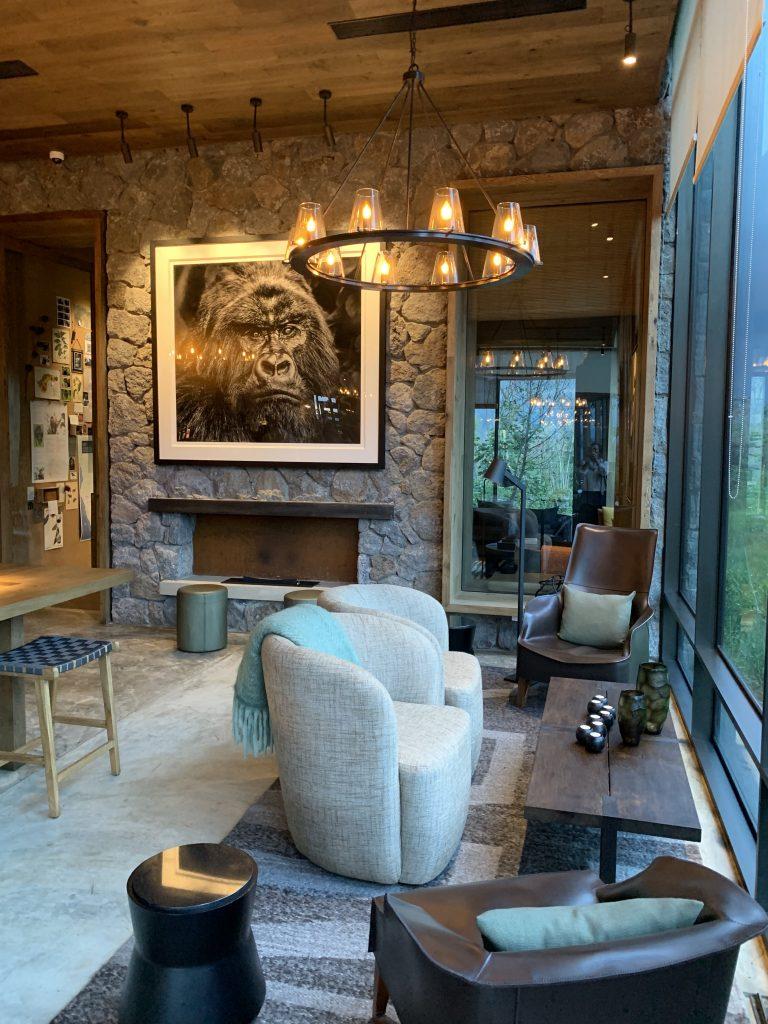 Lounge area at Singita's Kwitonda Lodge